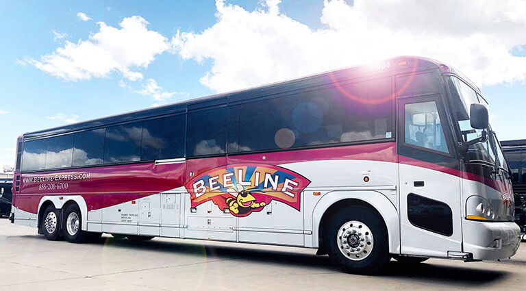 Beeline Bus with Sun Flare