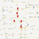 Beeline Express Salina to Wichita Route Map