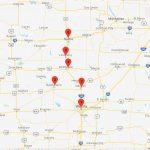 Beeline Express Wichita to Salina Route Map